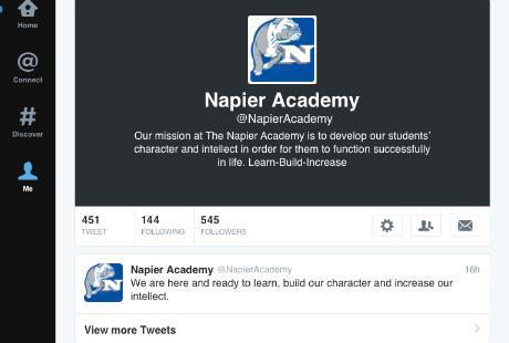Napier Academy Twitter Site.PNG